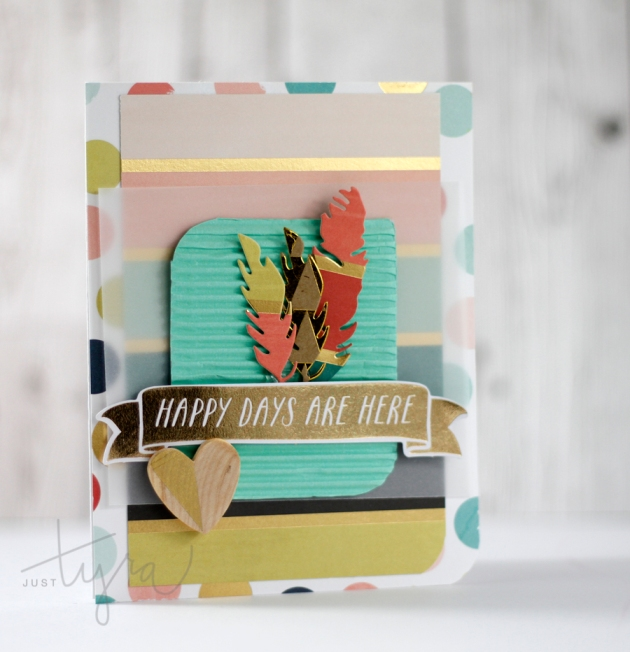 Happy Days Card Clique Kits August Release Just Tyra