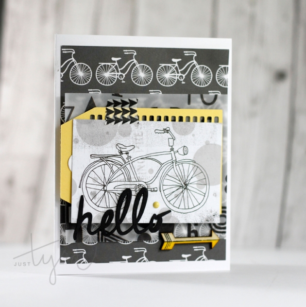 Clique Kits Sept Blog Share Hello Card JustTyra