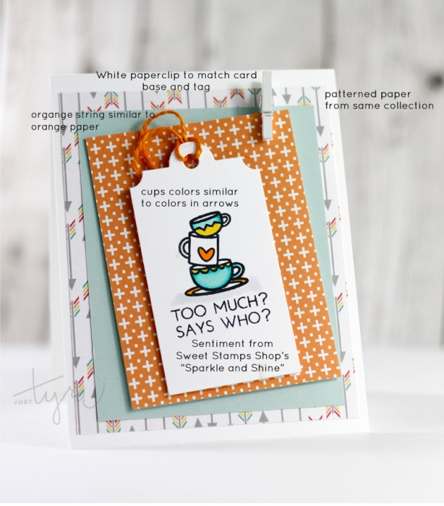 Too Much Coffee Card Design Tips Sweet Stamp Shop JustTyra