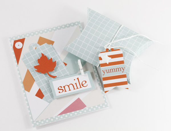 Tyra Babington Chickaniddy Crafts October Color Challenge Smile CardandGift