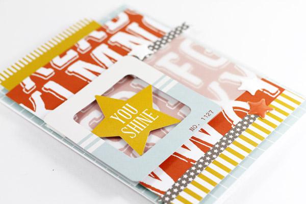 Tyra Babington Chickaniddy Crafts You Shine  Card Closeup