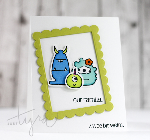 Monster Mash Family Card Sweet Stamp Shop JustTyra