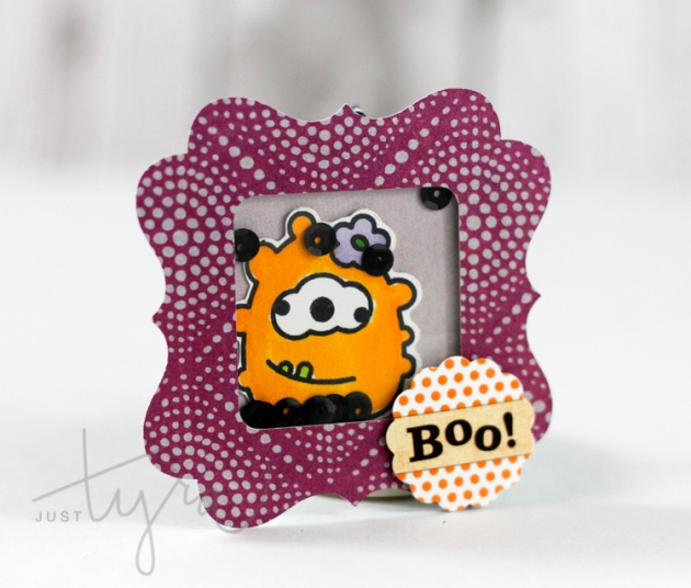 Sweet Stamp Shop Monster Mash SHaker Tag JustTyra