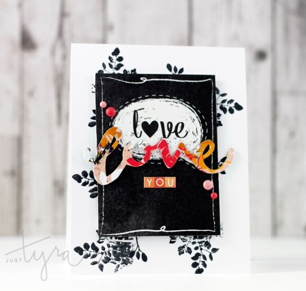 Colorful Love Card 2 Tyra Babington for Clique Kits