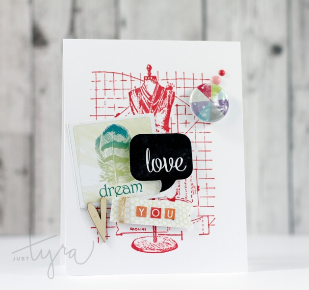 Love You Card Tyra Babington Clique Kits