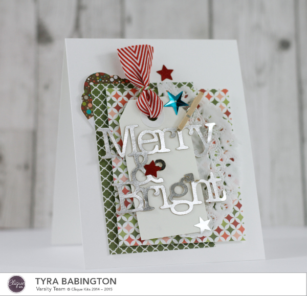Merry and Bright Card Clique Kits Holiday Cards by Tyra