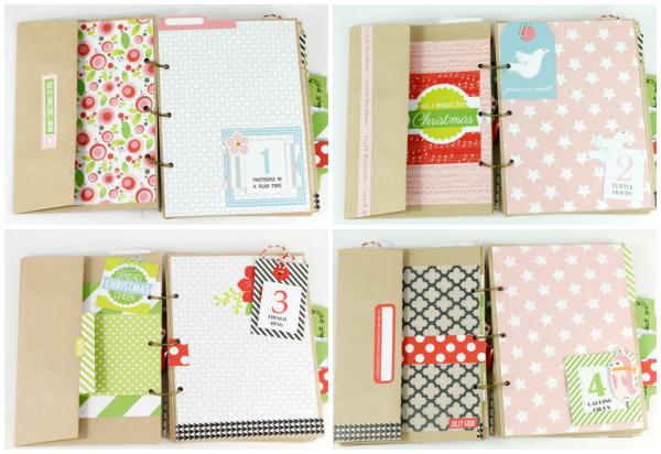 Tyra Babington MiniAlbum Collage Page 1 Jolly Good