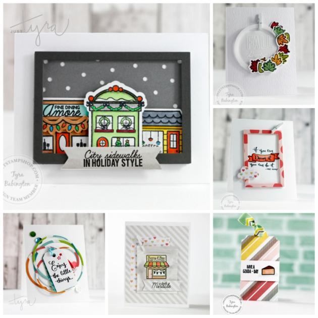 Tyra Babington Sweet Stamp Shop Collage of Cards