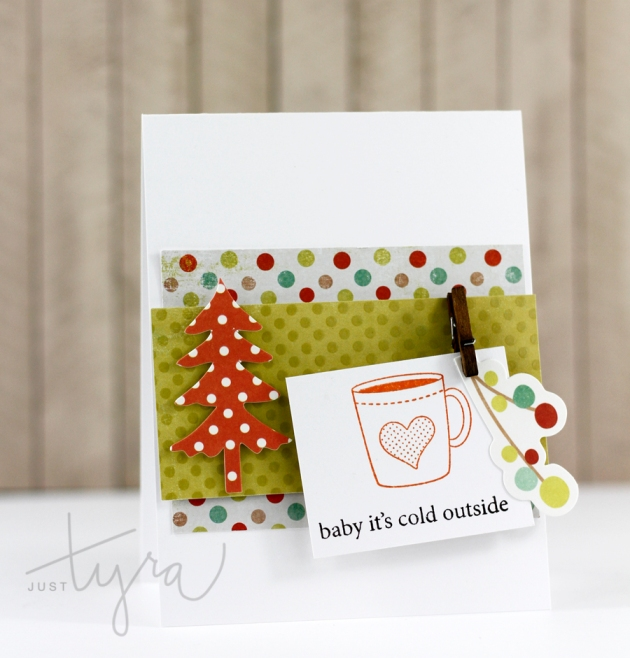 Cold Outside Card Coffee Lovers Blog Hop JustTyra