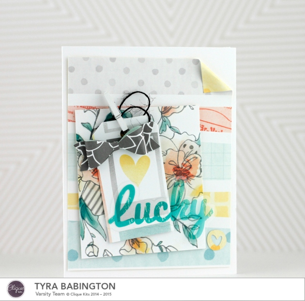Tyra Babingtno Clique Kits January Kit Lucky Card