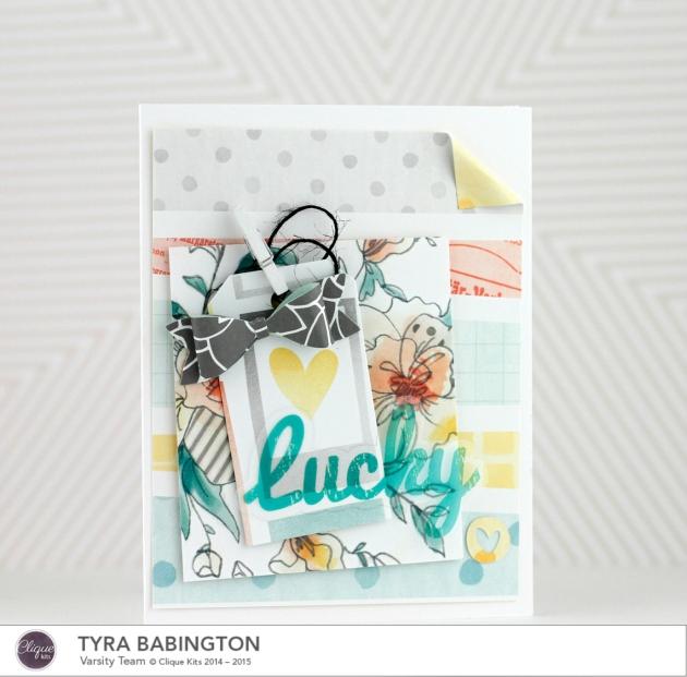 Tyra Babingtno Clique Kits January Kit Lucky Card