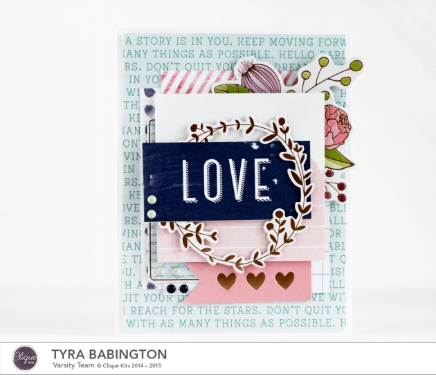 LOVE Card Clique Kits February Kit Tyra Babington