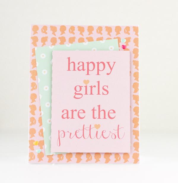 Happy Girls Card Chickaniddy Tyra Babington