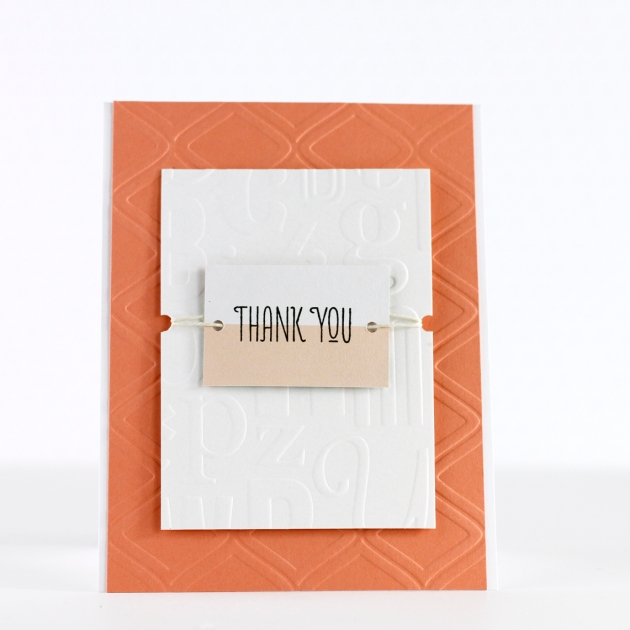 Thank You Embossed Card Teresa Collins Diamond Motif Tyra_edited-1