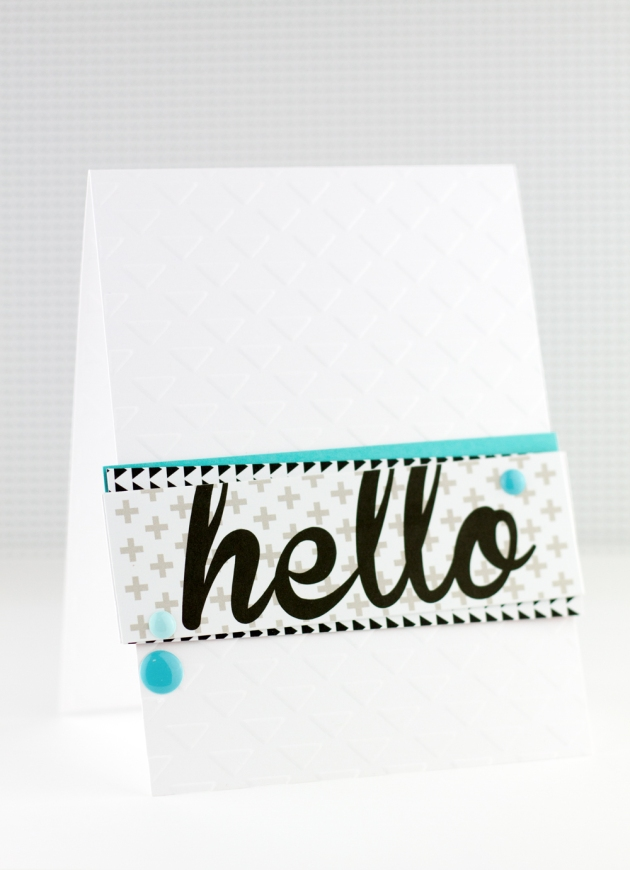 Hello Card Full Picture Bella Blvd Craftwell Tyra Babington