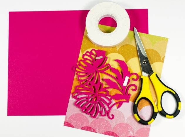Cut N G  Yellow Card Tyra Babington for Craftwell Process 3