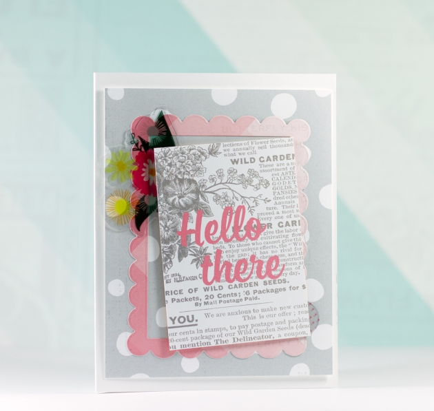 Hello There Card Craftwell Xyron August 2015 Tyra Babington