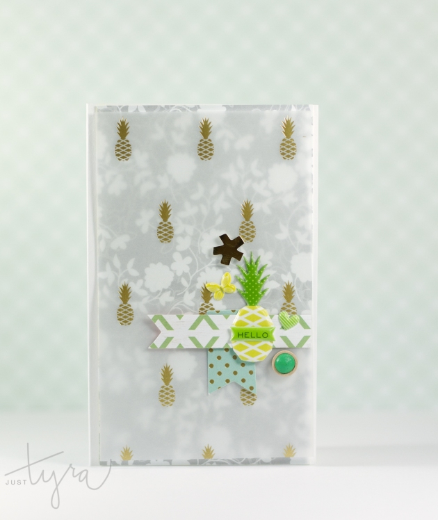 Pineapple Hello Card_JustTyra Aug2015