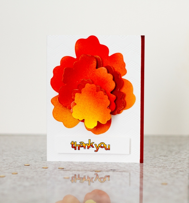 Thank You Card Craftwell October 2015 Tyra Babington