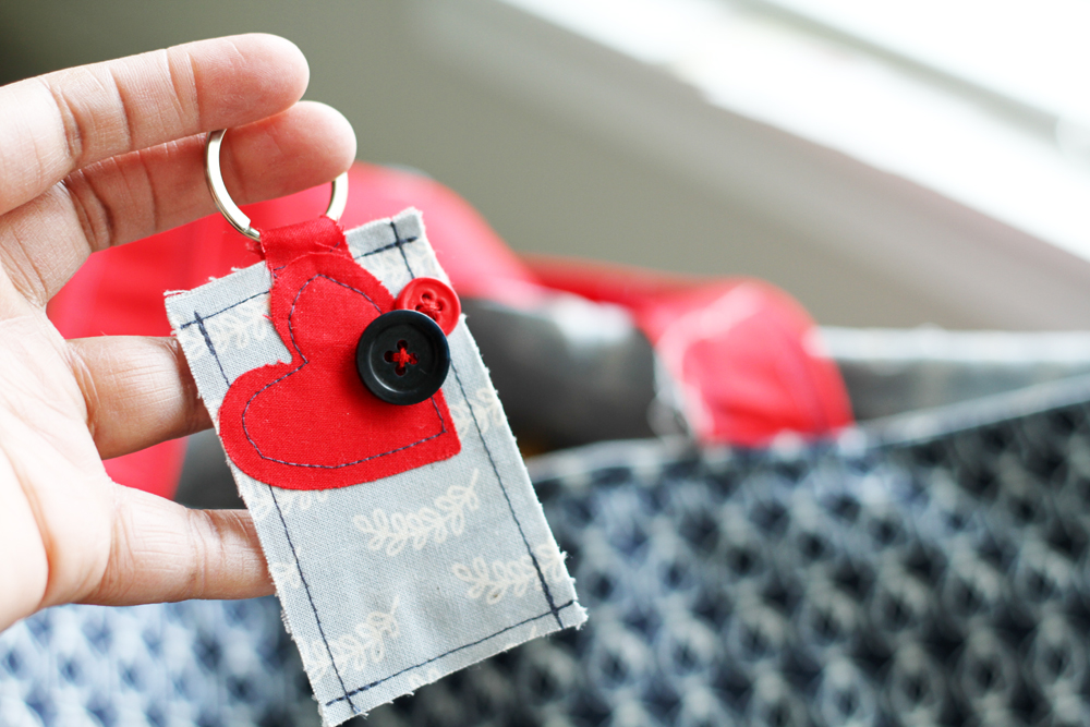 Patchwork Keychain Feature CraftWell Tyra Babington